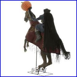 Sleepy Hollow Headless Horseman On Horse Animated Sounds Halloween Haunt Prop