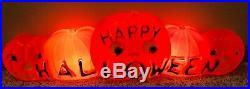 UNION PUMPKIN Don Featherston HAPPY HALLOWEEN BLOW MOLD 2 Light 33 Vintage