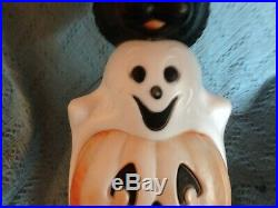 VINTAGE 1996 EMPIRE 32 HALLOWEEN TOTEM POLE BLOW MOLD WithLIGHT CORD