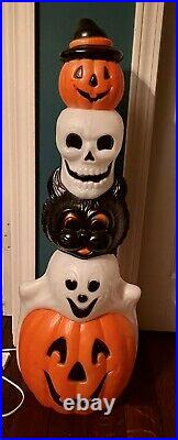 VTG Empire Blow Mold 32 Halloween Lighted Totem Pole 95