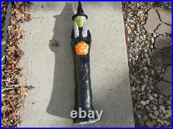 Vintage 1995 Union Don Featherstone Halloween Witch Light 3 FT Blow Mold