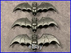 Vintage 1996 Halloween 22 Union Don Featherstone Black Bat Blow Mold Lot of 3