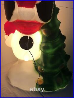 Vintage 32 Peanuts Snoopy General Foam Blow Mold Christmas Lighted Yard Decor