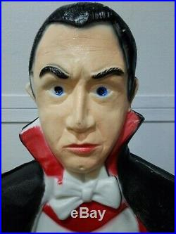Vintage Bela Lugosi Dracula Blow Mold Lighted Decoration 43 Tall Free Shipping