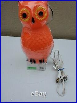 Vintage Blow Mold Owl Union Products 5568 Halloween Owl Light Sealed Unused