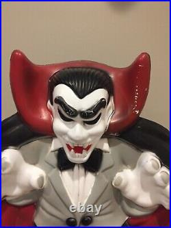 Vintage Count Dracula Vampire Halloween Lighted Blow Mold General Foam 36 HUGE