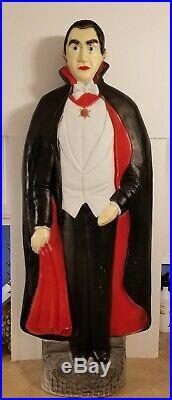 Vintage Don Featherstone Bela Lugosi DRACULA Halloween Light-up Blow Mold UNION