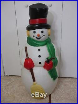Vintage Empire Frosty the Snowman Carrot Nose Lite Christmas Blow Mold 40 HUGE