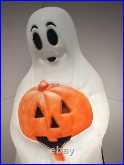 Vintage Empire Ghost Black Cat Pumpkin Halloween 35 Plastic Blow Mold Light