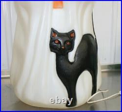 Vintage Empire Ghost Black Cat Pumpkin Halloween 35 Plastic Blow Mold Light BOX