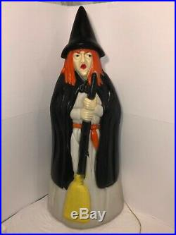 Vintage Empire Halloween 39 Witch With Broom Lighted Blow Mold Extremely Rare