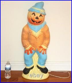 Vintage Empire Pumpkin Head Scarecrow 34 Lighted Blow Mold