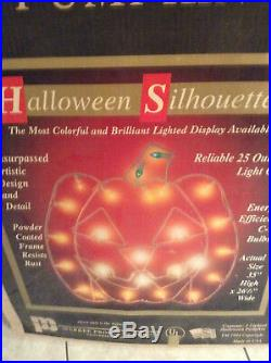 Vintage Halloween 1994 Light Up Outdoor Pumpkin With Orignal Box By Markee RARE