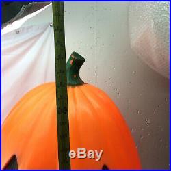 Vintage Halloween Blow Mold Pumpkin Plastics Lighted Orange Holiday Decorations