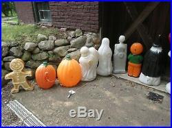 Vintage Halloween Plastic Blow Mold Large Lot of 19 Nativity Christmas Blomold