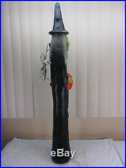 Vintage Lighted Skinny Witch Halloween Blow Mold Decor Don Featherstone Union 36