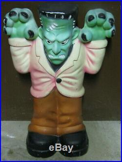 Vintage Plastic Halloween Frankenstein Holiday Blow Mold Yard Decoration