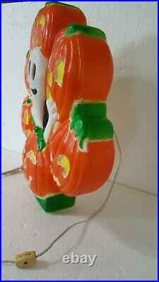 Vintage Pumpkin/ghost Halloween Blow Mold Don Featherstone Union Products