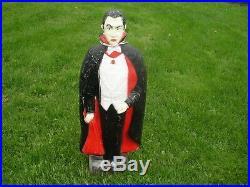 Vintage Union Bela Lugosi as Dracula Blow Mold lighted 43 tall Halloween