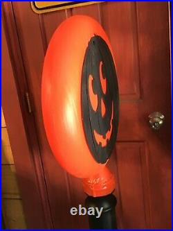 Vintage Union Products Halloween Silhouette Moon Blow Mold Light Lamp Post