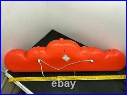 Vintage Union Products Inc. Happy Halloween Pumpkin Blow Mold 33 2 Light New