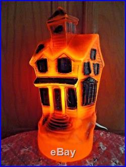 Vtg 13 Empire Haunted House Halloween Blow Mold Light Up Yard Decor Bat Prop