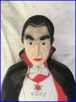 Vtg Bela Lugosi Union Product Dracula Blow Mold Halloween Don Featherstone