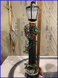 Vtg Blow Mold Street Light Lantern Christmas Winter Village City Candle Glow HTF