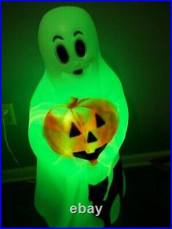 Vtg Empire Ghost Black Cat Pumpkin Halloween 35 Plastic Blow Mold Light + BOX