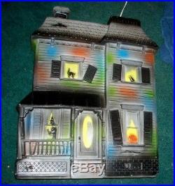 Vtg Rare Don Featherstone Haunted House Lighted Halloween Plastic Blowmold