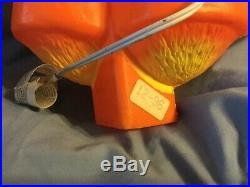 Vtg Union Blow Mold Halloween Plastic Scarecrow Complete WithStake Light Cord Rare